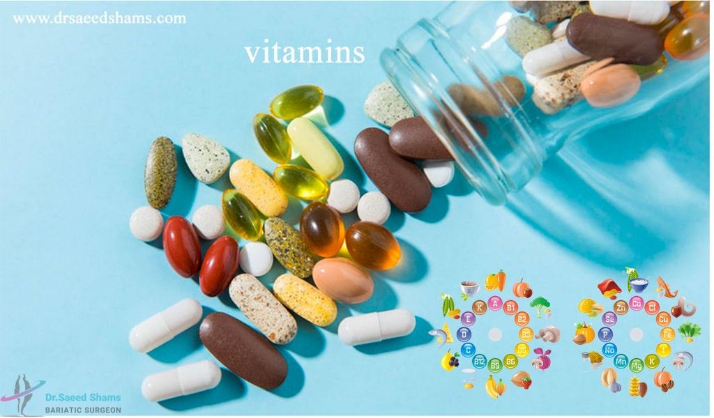مکلمل ها و ویتامین های بعد سلیو معده