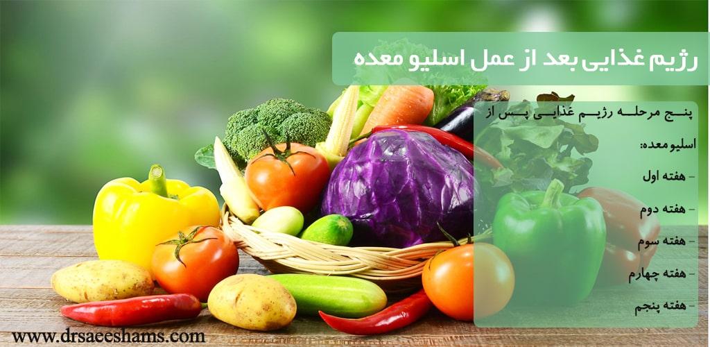 رژیم غذایی بعد از عمل اسلیو معده